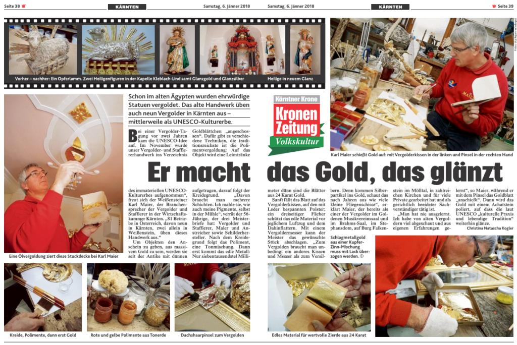 Bericht Kronen Zeitung 2018