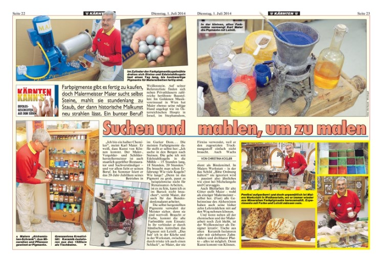 Bericht Kronen Zeitung 2014